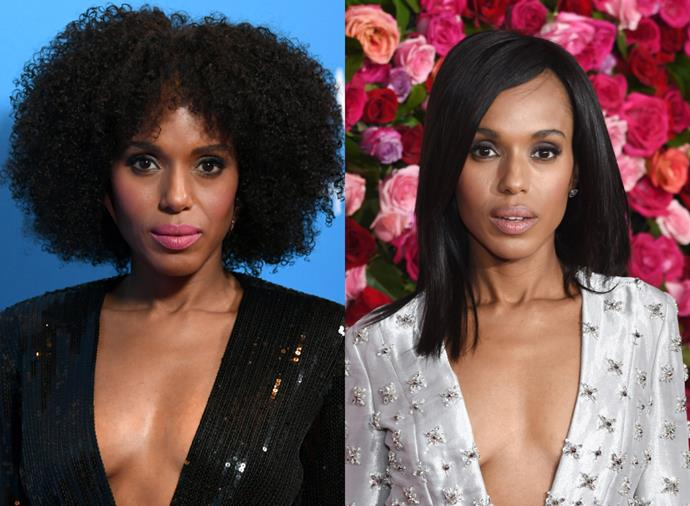 """**Kerry Washington**<br><br>  A true chamelon, [Kerry Washington's beauty looks](https://www.harpersbazaar.com.au/beauty/kerry-washington-best-beauty-looks-20463