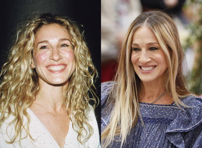 **Sarah Jessica Parker**<br><br>  Whether as *Sex and the City's* Carrie Bradshaw or as herself, Sarah Jessica Parker wild curls look just as stunning as her straightened locks.