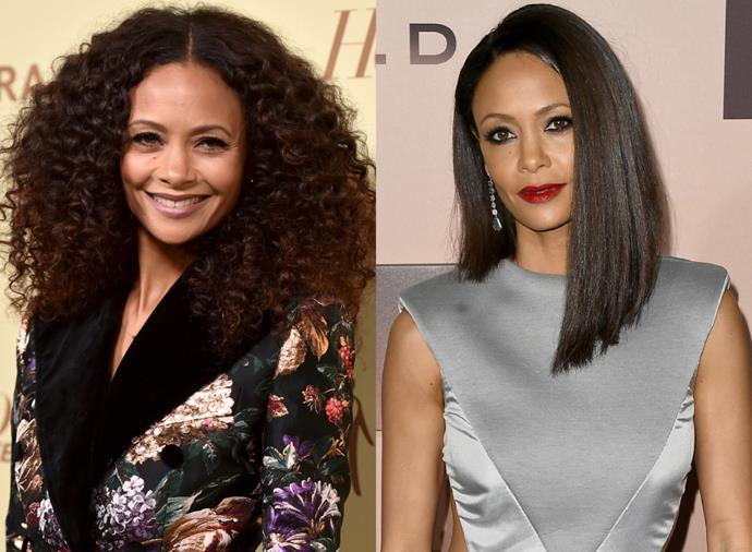**Thandie Newton**<br><br>  *Westworld* star Thandie Newton can truly do it all (including seriously asymmetrical cuts). Case closed.