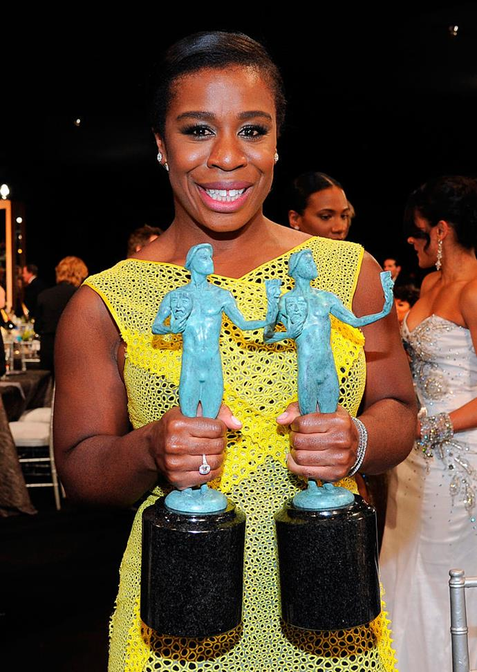 **Uzo Aduba** <br><br> The *Orange Is The New Black* star was not only quite the athlete in college but was also quite the opera singer, graduating from the College of Fine Arts with a focus on voice performance. Who would have thought?