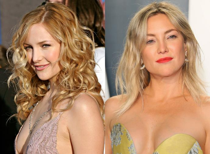 **Kate Hudson**<br><br>  Whether California girl-curls or straight (but tousled) strands, Kate Hudson is definitely one who can do both.