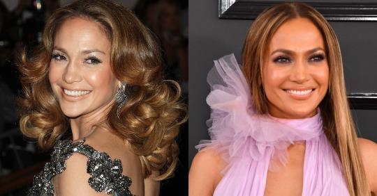 15 Celebrity Curly Vs Straight Hair Inspiration Photos