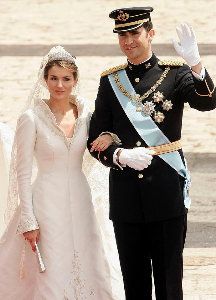 "**5. Spanish Crown Prince Felipe and Letizia Ortiz Rocasolano's 2004 Wedding**<br><br>  **Estimated cost:** approx. AUD $36 million ([USD $25 million](http://news.bbc.co.uk/hi/spanish/misc/newsid_3737000/3737115.stm|target=""_blank""