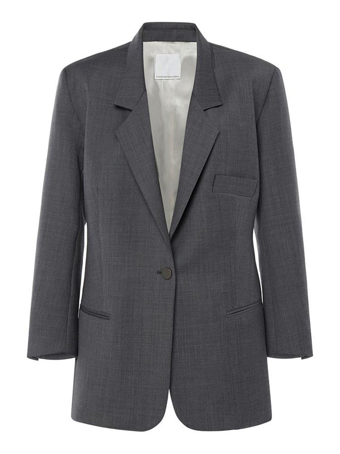"""Boy Scout Blazer, $890 by [Christopher Esber](https://christopheresber.com.au/collections/all/products/boy-scout-blazer-3?variant=32358456721539