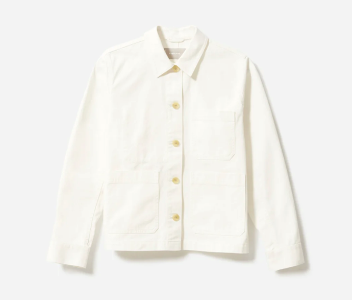 """The Chore Jacket, $101 by [Everlane](https://www.everlane.com/products/womens-chore-jacket-black?collection=womens-outerwear