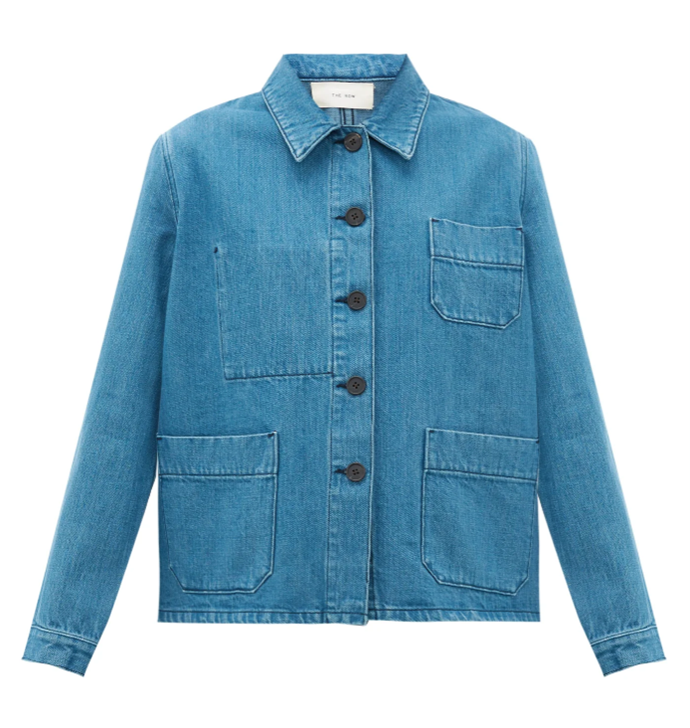 """Kurt Patch Pocket Jacket, $1,889 by The Row at [MatchesFashion](https://www.matchesfashion.com/au/products/The-Row-Kurt-patch-pocket-denim-jacket-1331741