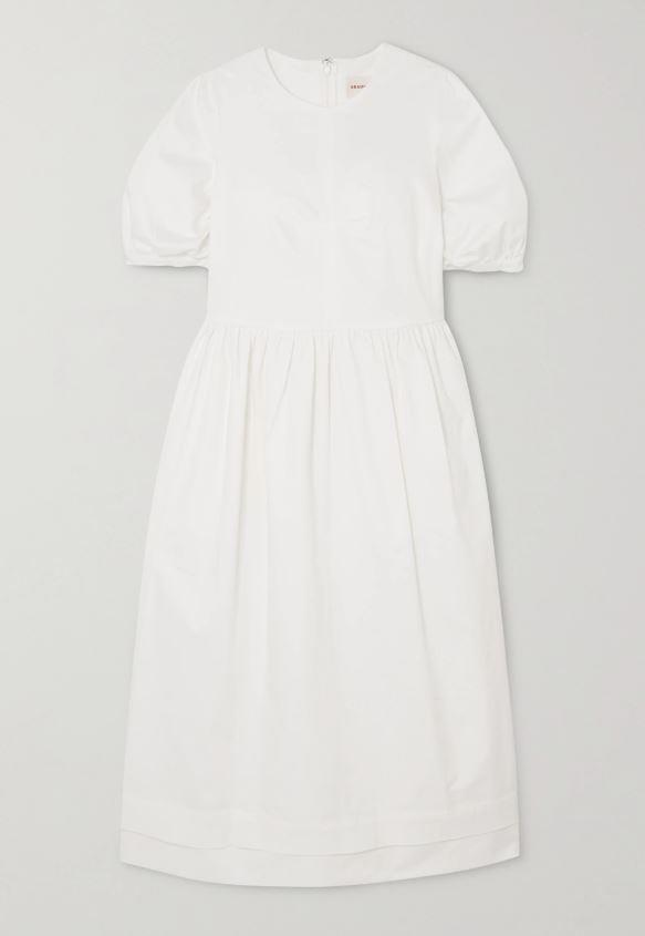 "dawn stretch-cotton twill midi dress, $641.21 by &Daughter at [net-a-porter](https://www.net-a-porter.com/en-au/shop/product/anddaughter/dawn-stretch-cotton-twill-midi-dress/1229592|target=""_blank""