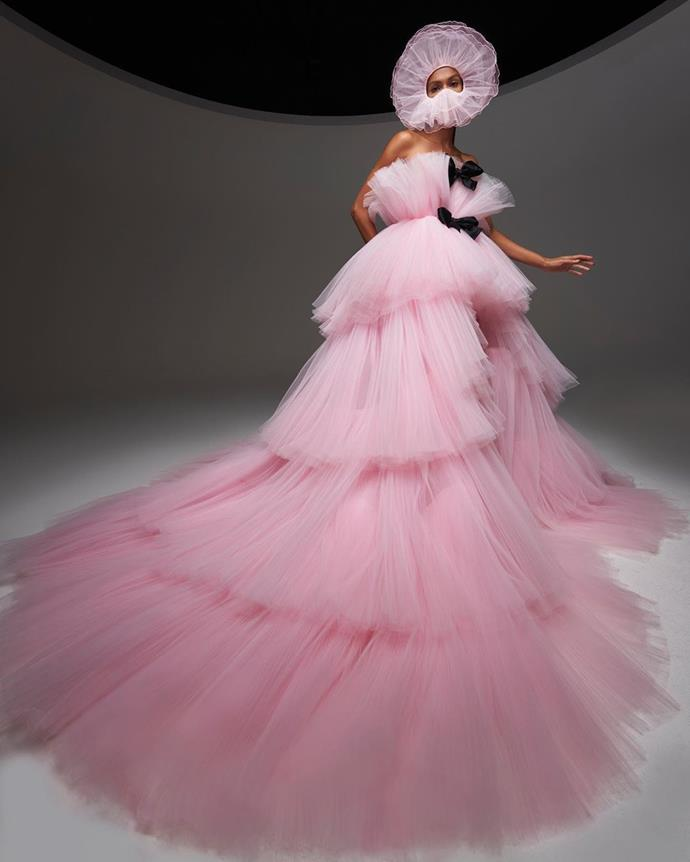 **Giambattista Valli's Tulle And Bow-Filled Ode To Paris**