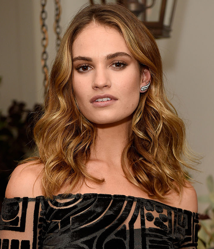 **Lily James**<br></br> *Image via: Getty Images*