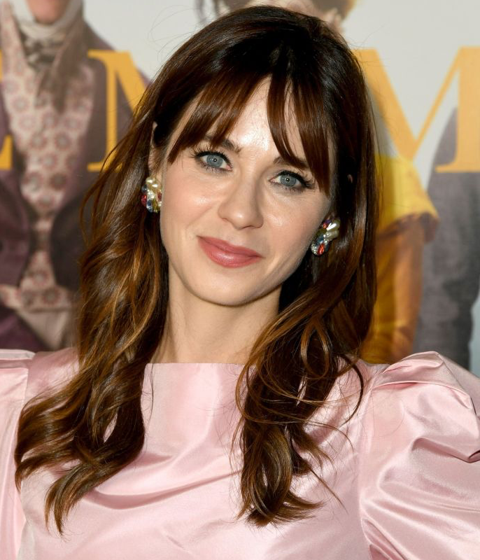 "**Zooey Deschanel**<br></br> ""You could say that I'm hooked on bangs,"" Deschanel once explained of her timeless yet trend-sparking signature style."