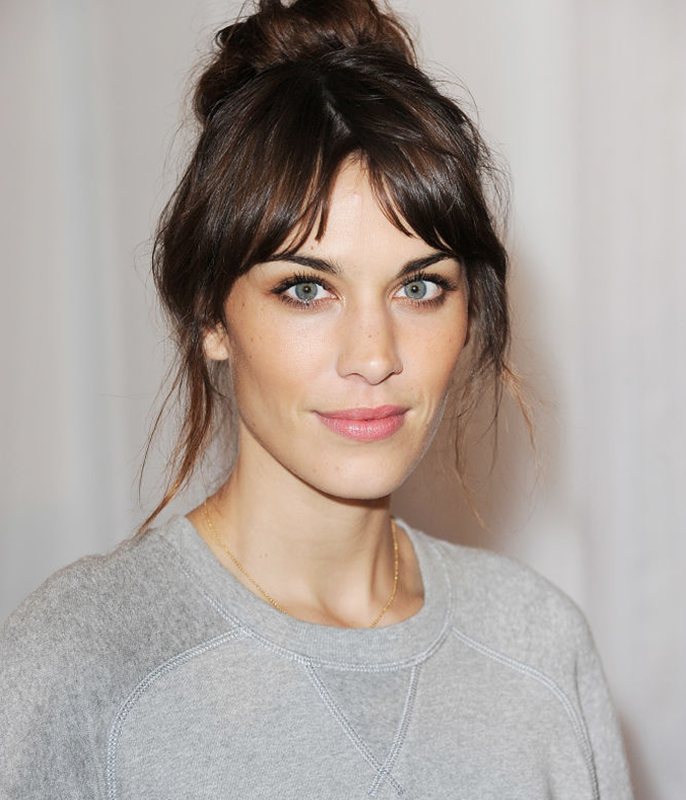 **Alexa Chung**<br></br> Chung's bangs have proved their impressive ability to reinvent themselves time and time again, but this shaggy curtain fringe is our very favourite.