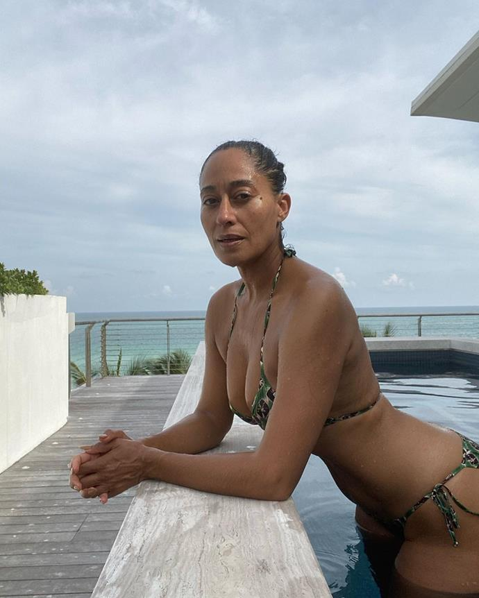 "**WELLNESS: Embracing Getting Older**<br><br>  A healthy outlook on ageing is also a key part of Ross' overall approach to wellness and happiness. In celebration of her 47th birthday, Ross shared a post to Instagram where she revealed her attitude of gratitude towards getting older with a series of photos (including this one).<br><br>  ""It's my birthday. I'm 47 today and I'm filled with gratitude. I LOVE getting older and I LOVE my life,"" she wrote in the caption.<br><br>  ""I'm so grateful to be living this life I'm in. I've worked so hard to feel good in my skin and to build a life that truly matches me and I'm in it and it feels good. I remain curious and teachable and so it will all keep getting better. No filter, no retouch 47-year old-thirst trap! Boom!""<br><br>"