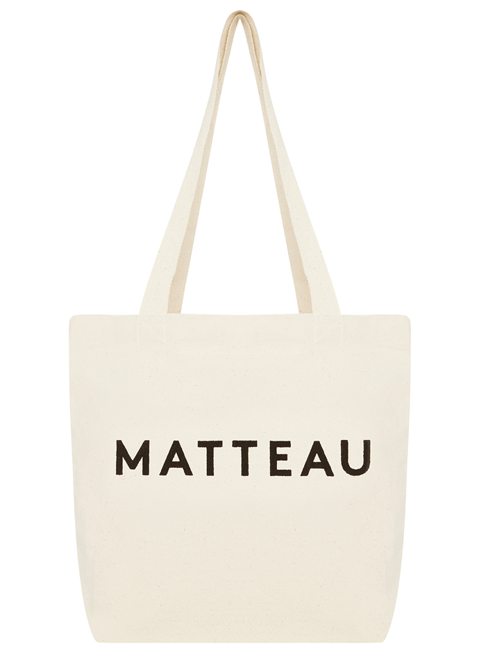 "Tote Bag, $25 by [Matteau](https://matteau-store.com/collections/accessories/products/matteau-tote-bag?variant=|target=""_blank""