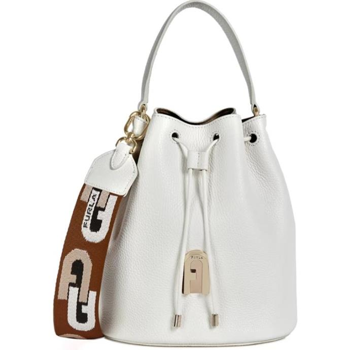 "Bucket Bag S Talco H, $599 by [Furla](https://www.furla.com/au/en/eshop/furla-sleek-BAIAABRW640001007P0700.html?dwvar_BAIAABRW640001007P0700_color=P0700&cgid=Bucket-Bags target=""_blank"" rel=""nofollow"")."
