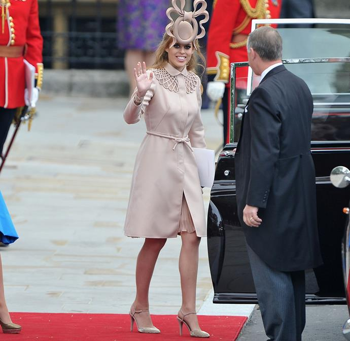 *Princess Beatrice's Valentino shoes.*