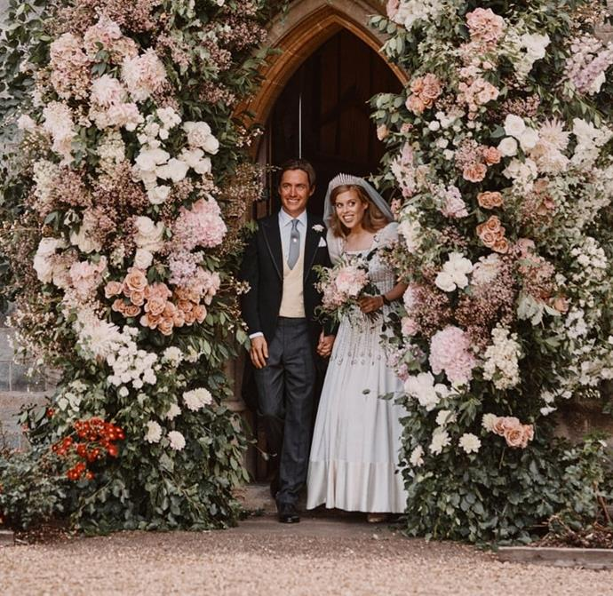 "***The theme of the reception was 'secret garden'***<br><br> Although it's likely we won't see photos from the reception, sources told *[Town and Country](https://www.townandcountrymag.com/society/tradition/a33356019/princess-beatrices-royal-wedding-secret-garden-theme/|target=""_blank""