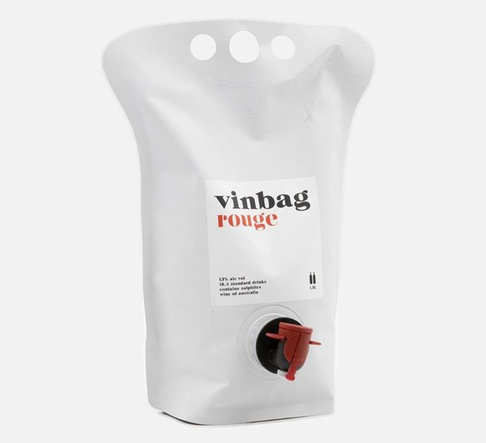 "NV VINBAG ROUGE, $55 FOR 1.5L AT [DRNKS](https://www.drnks.com/products/nv-vinbag-rouge-bagnum-1-5l|target=""_blank""