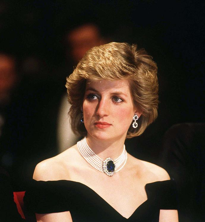 "**Princess Diana Wearing Her Sapphire And Pearl Choker With Her 'Revenge' Dress**<br><br>  It was the fashion moment that sparked tabloid headlines around the world. While many remember the off-shoulder LBD Princess Diana donned for her famous ['revenge dress'](https://www.harpersbazaar.com.au/fashion/revenge-dresses-19235|target=""_blank"") moment, eagle-eyed royal watchers noticed that the late princess accessorised her form-fitting ensemble with one of her favourite jewellery pieces—a seven strand pearl choker with an enormous sapphire and diamond centrepiece.<br><br>  Interestingly, the stunning centrepiece (pictured here on a different date) was originally a brooch which was later converted into part of the necklace gifted by the Queen Mother for Diana and Prince Charles' wedding. The piece became a signature jewel of Diana's during her marriage to Charles, and was perceived as a fitting 'revenge jewel' when she wore it with the now-infamous dress, as she asserted her independence following her husband's infidelity."