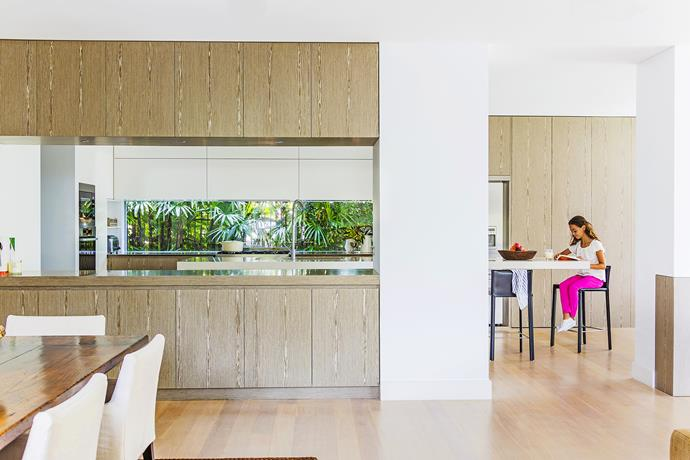 """The kitchen includes generous storage and a large pantry.   Eveneer **timber veneer** in EvenSaltwood from [Elton Group](http://eltongroup.com/