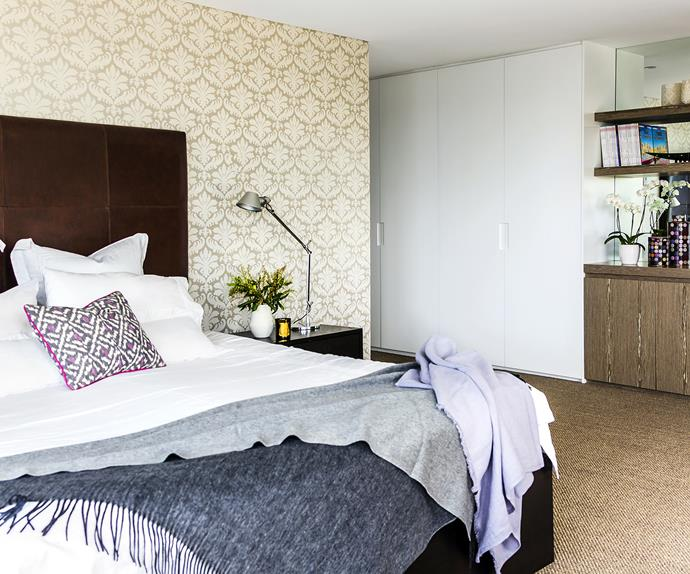 The bedroom of a family-friendly reno in Sydney's East