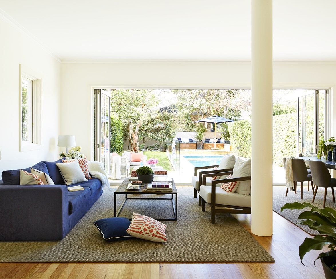 **Rug rules:** Rugs can be used to zone or divide a room, as well as visually enhance the feeling of space – as long as you get the size right. Here's [how to choose the right rug size for your space](http://www.homestolove.com.au/how-to-pick-the-right-rug-size-for-your-space-1485). Photo: John Paul Urizar / bauersyndication.com.au