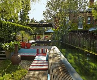 Backyard natural pool