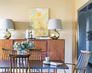 Designer budget dining room