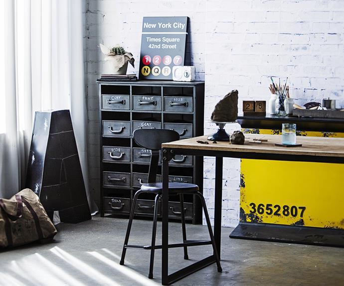 Industrial study desk