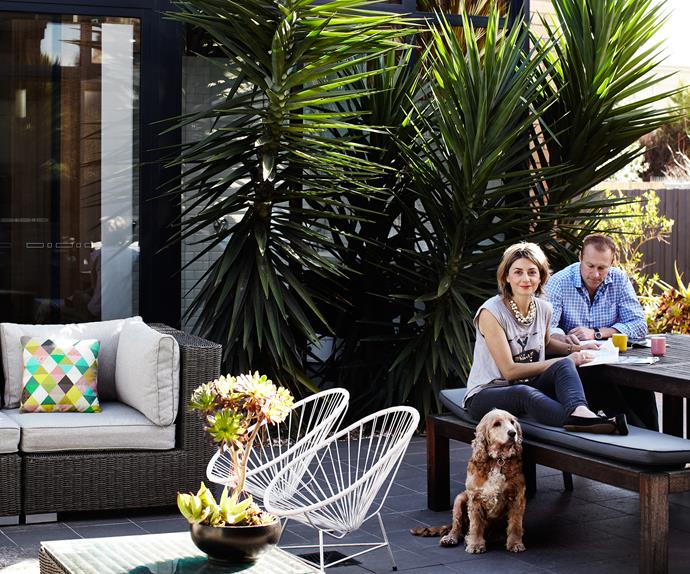 Melbourne renovated courtyard