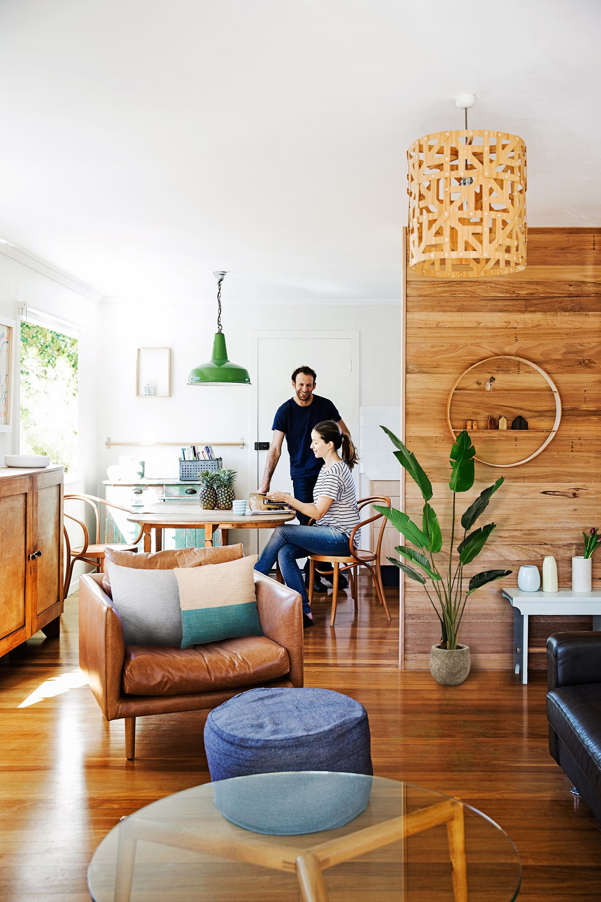 "Timber is the star of the show in this **eco-friendly family home** that has been lovingly renovated and decorated with a Scandinavian aesthetic in mind. [Take a tour >](http://www.homestolove.com.au/gallery-rachel-and-robs-simply-chic-queensland-reno-1563|target=""_blank"")"
