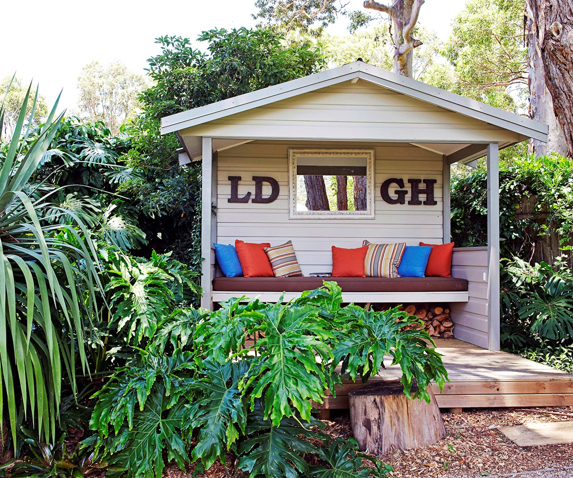 Nicknamed the 'cabana' by its homeowners, this outdoor seat at a [home on the Central Coast](http://www.homestolove.com.au/gallery-louise-and-gregs-country-garden-escape-1568) also doubles as storage for logs of wood. *homes+*