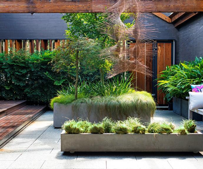 Industrial courtyard garden