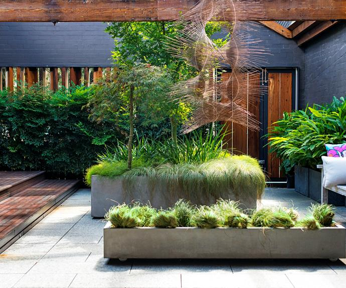 Industrial courtyard garden