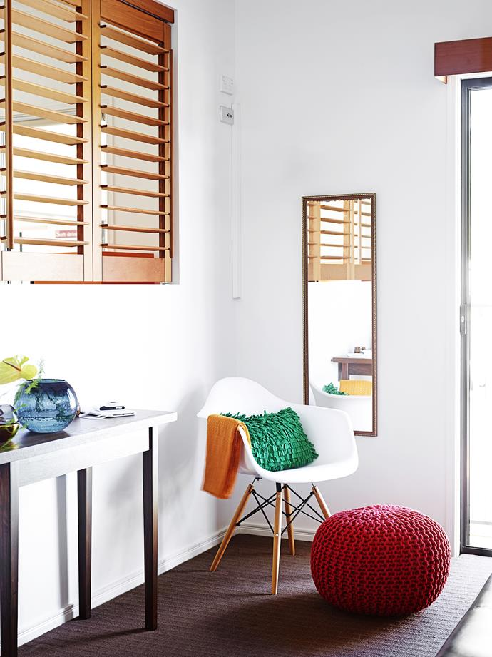 Shutters ensure plenty of ventilation, as well as privacy.