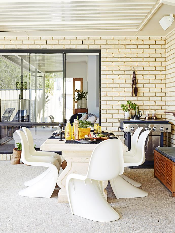 """The barbecue from [Mitre 10](http://shop.mitre10.com.au/ target=""""_blank""""), is a focal point for outdoor entertaining."""