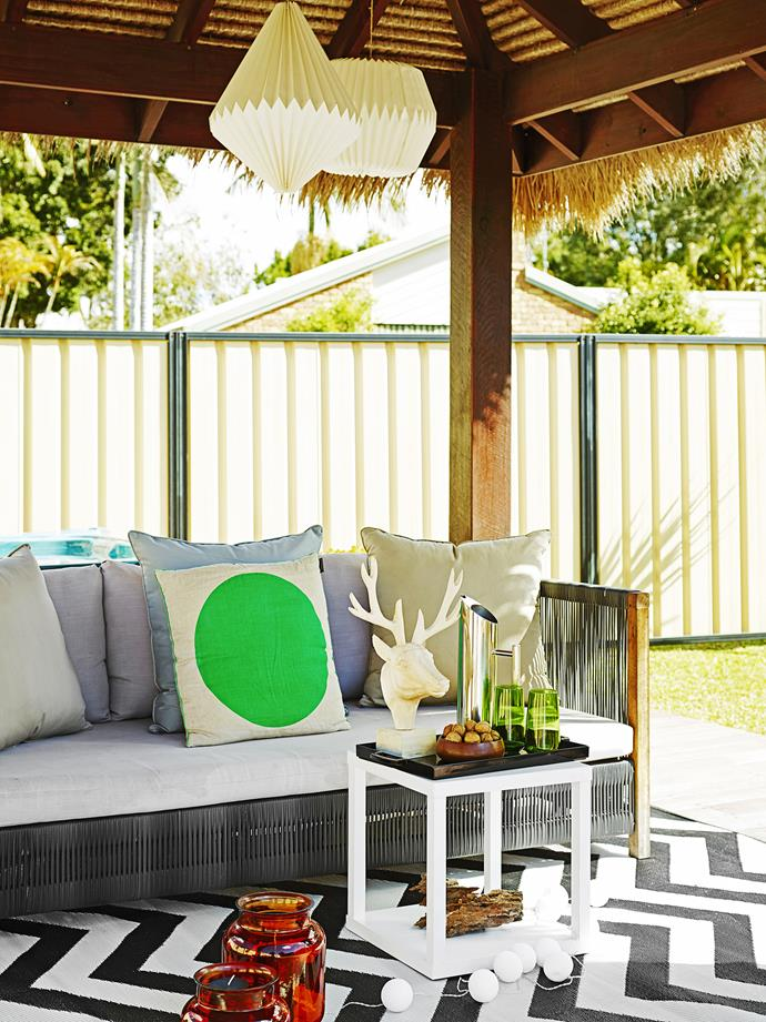 Paper lanterns, from Noosa Classics, oversized and gorgeous, make a lovely statement.
