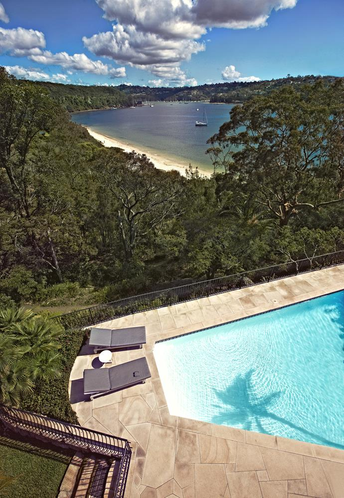 The home is right on Sydney's waterfront and has magnificent harbour views.