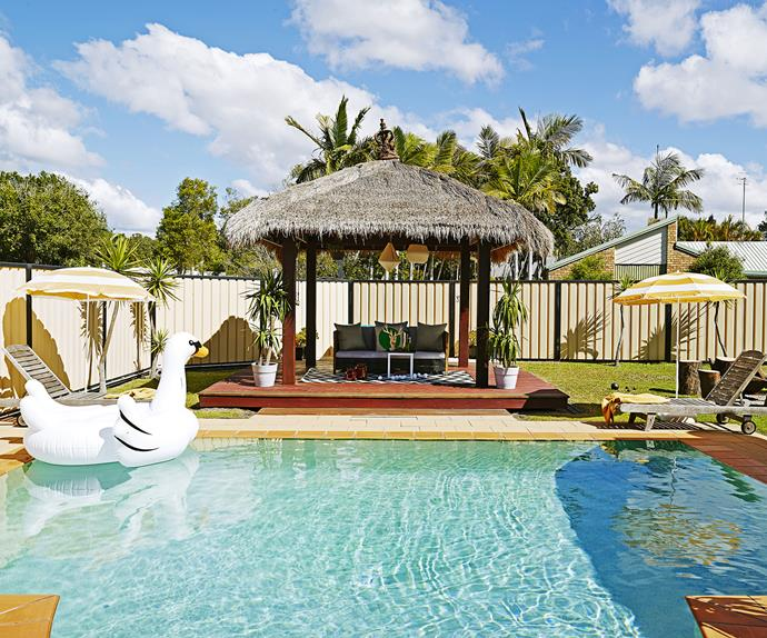 Outdoor retro modern swimming pool