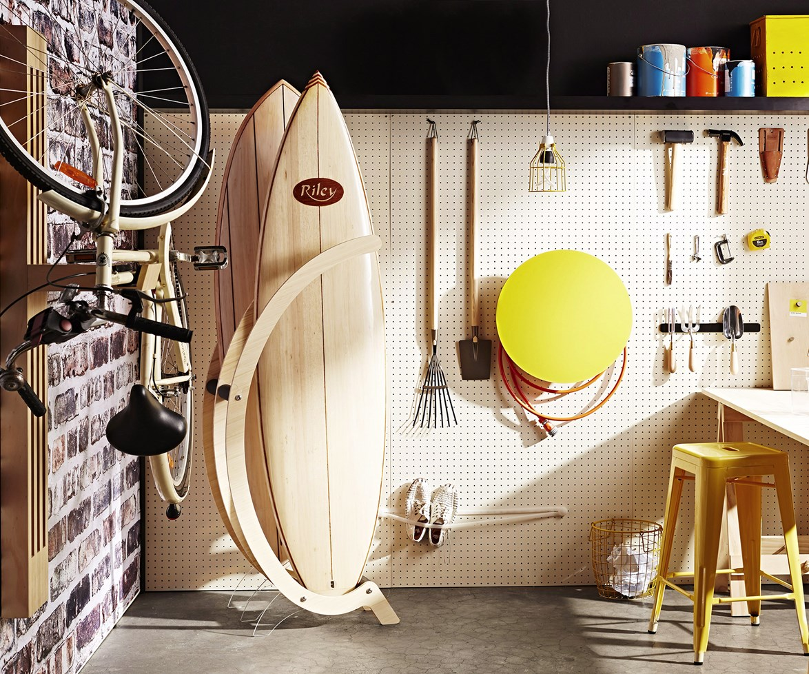 """Find out how to [get your garage organised with customisable storage options here](http://www.homestolove.com.au/space-saving-garage-storage-solutions-1611