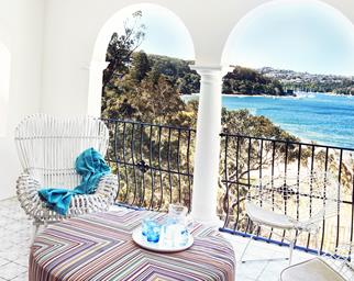 Sydney luxury waterfront balcony