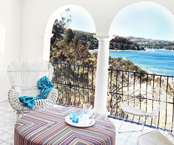 Sydney luxury waterfront balcony