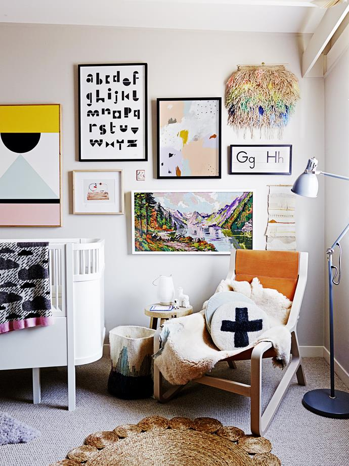 """The running theme through my nursery is that it is populated with things I had intended for us before baby Goldie came along,"" says interior stylist [Simone Haag](http://www.simonehaag.com.au/
