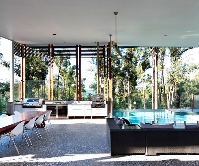 """When the owners of this Brisbane home renovated, they added a spacious outdoor room. """"It's a generous space designed to accommodate a big family,"""" says Shawn Godwin, director of [Base Architecture](http://www.basearchitecture.com.au/