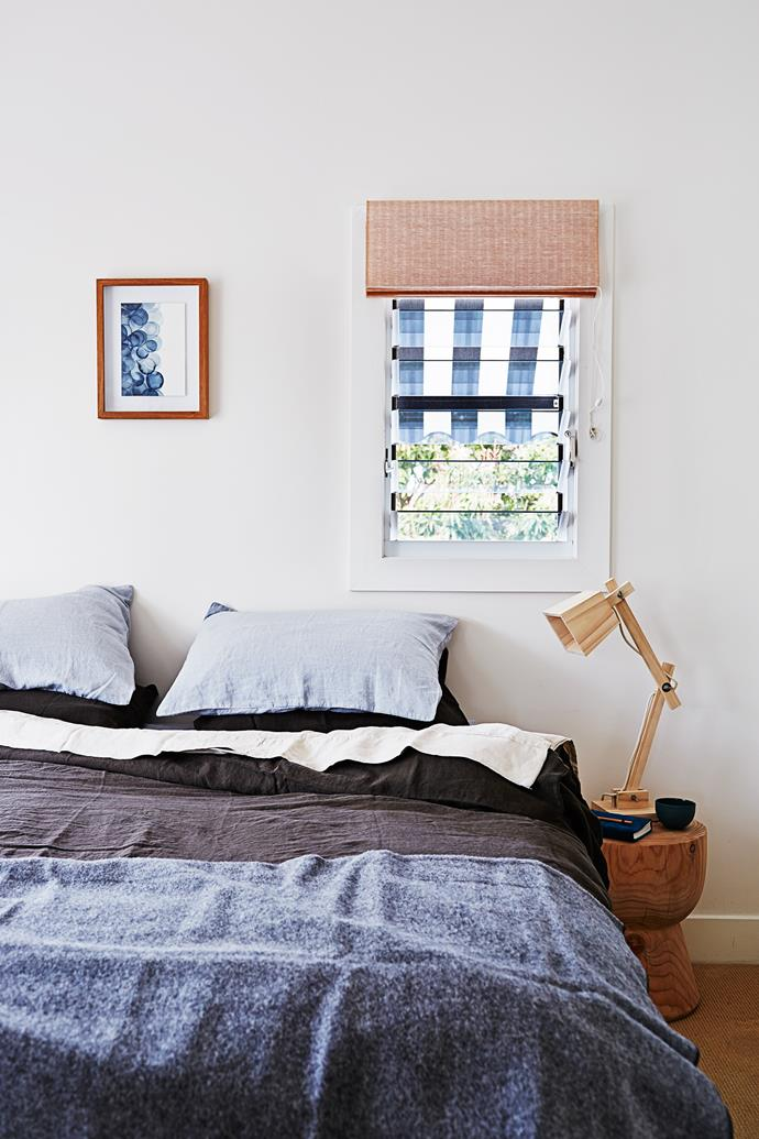 """The home is awash with natural fabrics and textures, including [Bedouin Societe](http://www.bedouinsociete.com/