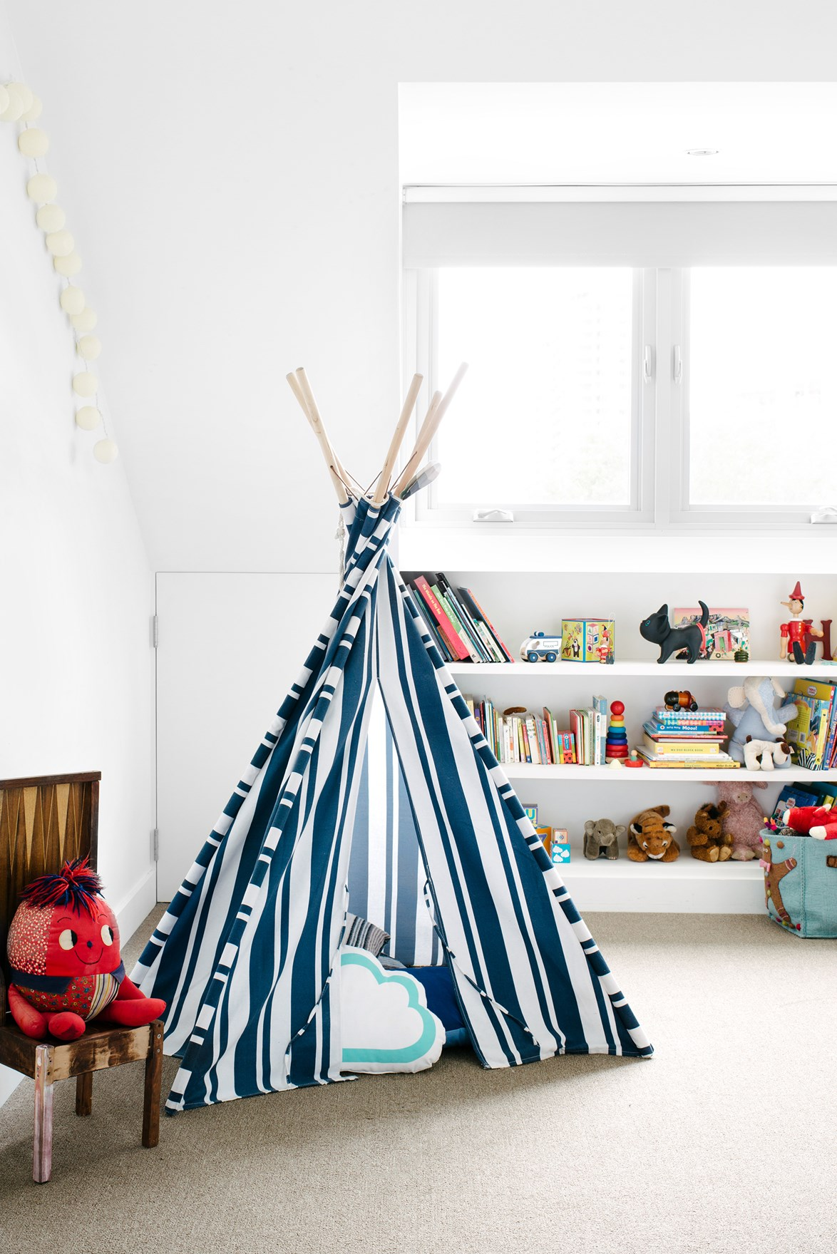 No kids room is complete without a teepee! Perfect for a spot of hide 'n seek or some quiet time. *Photo: Brooke Holm*