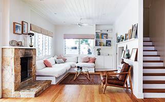 Byron Bay beach house living room