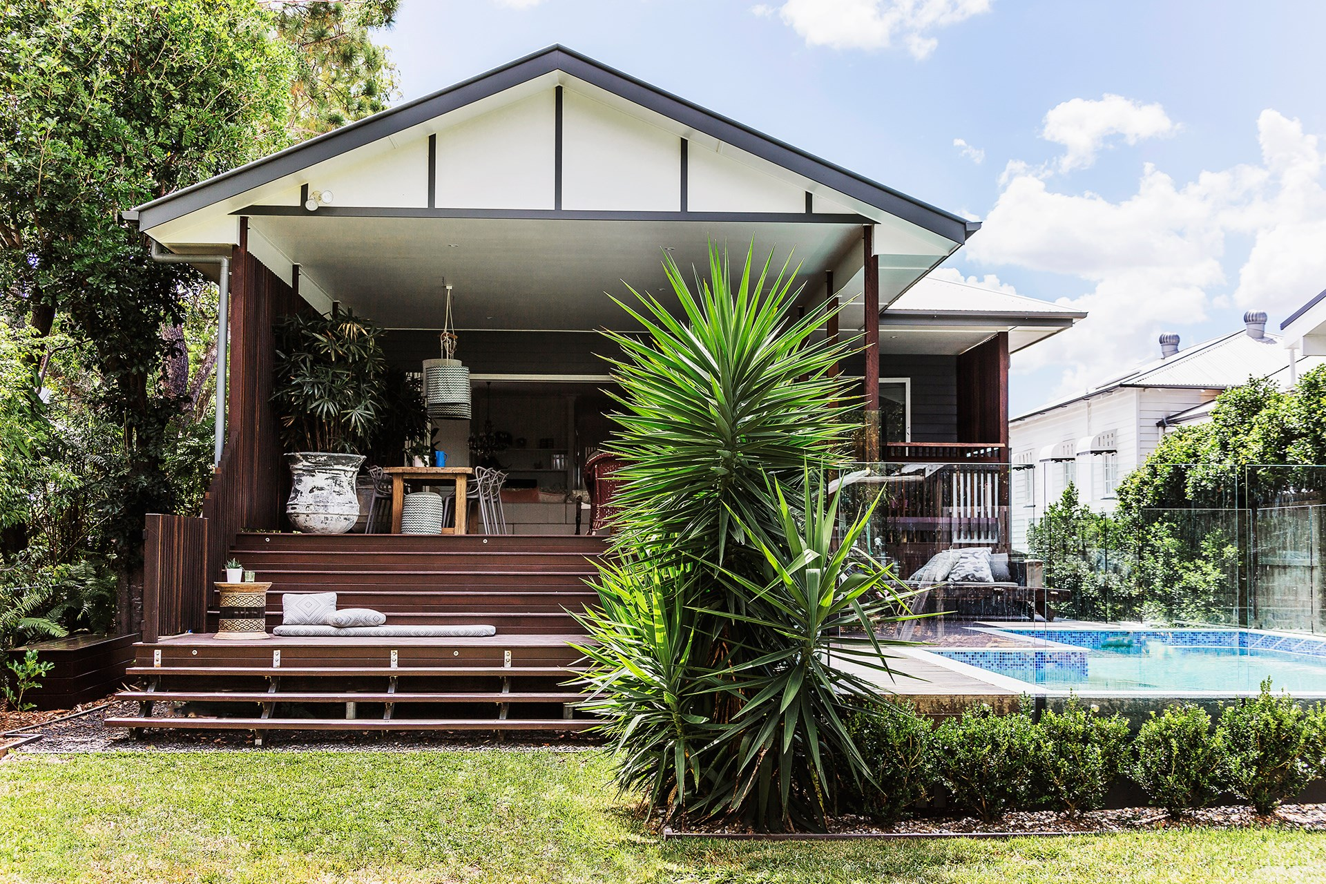 The Brisbane climate allows the owners of this [renovated 1930s Queenslander](http://www.homestolove.com.au/gallery-lori-and-sanjays-relaxed-brisbane-queenslander-1679) to enjoy the deck area year round. Photo: Maree Homer