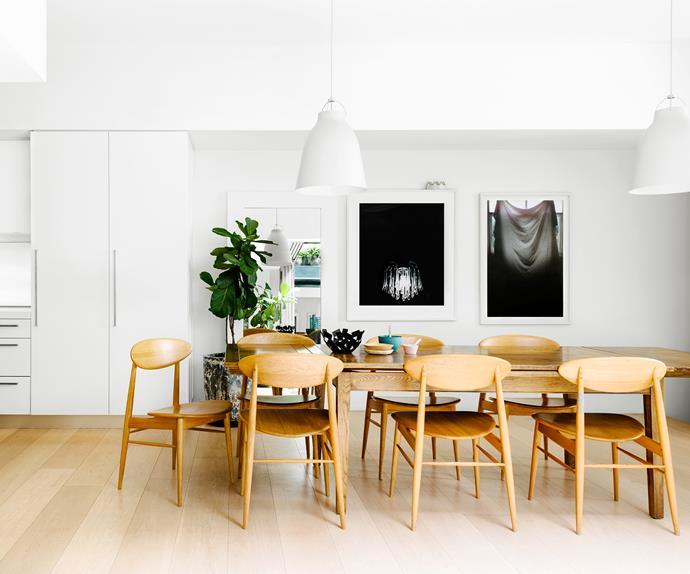 Scandinavian styled dining area