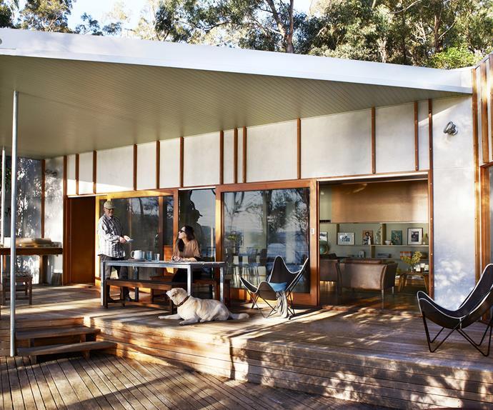 Renovated coastal outdoor room
