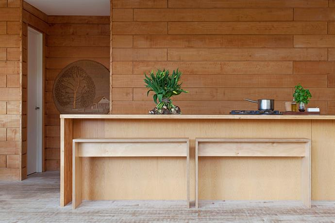 "A striking timber wall runs through the length of this [Sydney home](http://www.homestolove.com.au/gallery-diana-and-noeks-sanctuary-in-the-city-1716|target=""_blank""). *Photo: Francoise Baudet*"